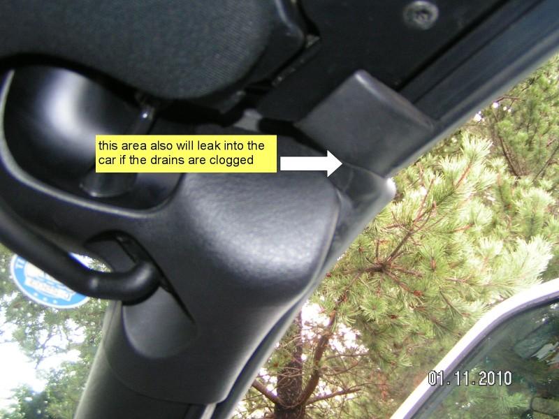 Chrysler sebring drain holes #4
